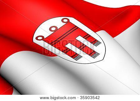 Flagge von Vorarlberg, Österreich.