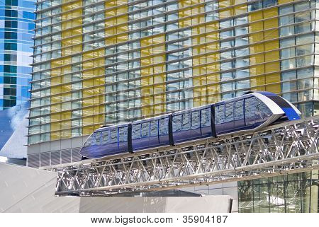 Monorail Tram At Citycenter