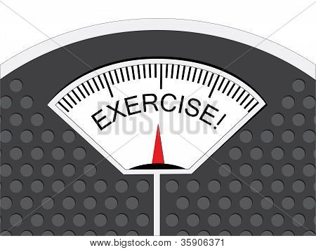 Weighing Scale Showing Exercise on Reading