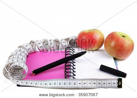 Meter Notepad And Apple