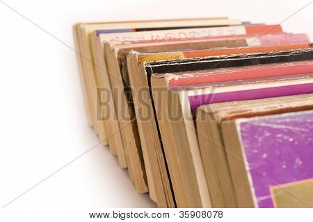 Old Paperback Books in Row
