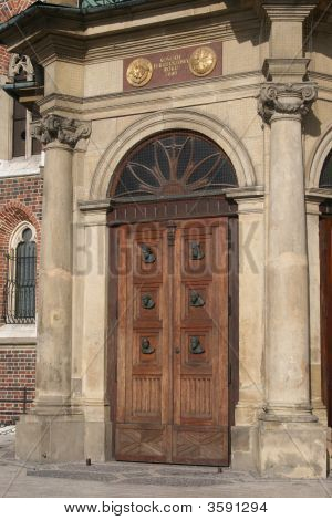 Church Entrance, Cracow, Poland