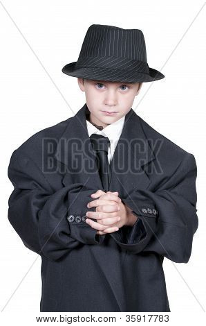 Boy In Oversized Clothes