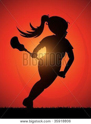 Girls Lacrosse Player