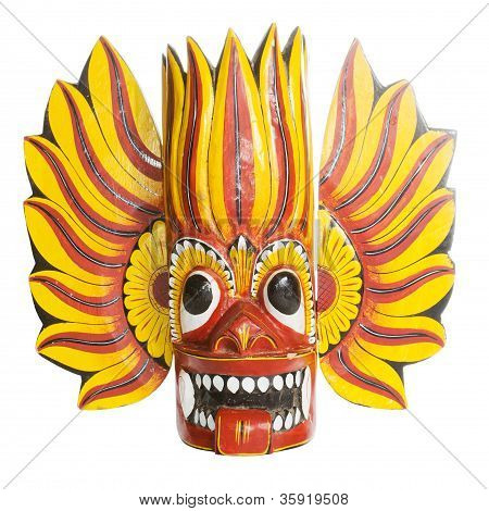 Colorful Sri Lanka Mask