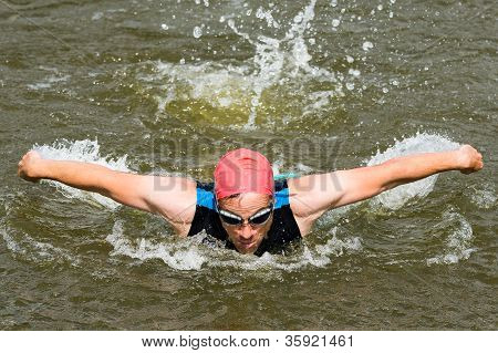 swimmer in butterfly