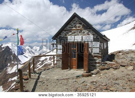 Chapel on high mountain