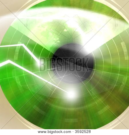 Eye Scanned By Security Software