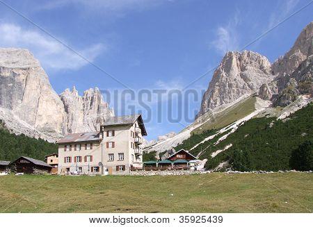 Refugee on italian Alps