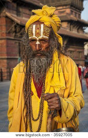 Ascetic Monk, Sadhu Holy Man