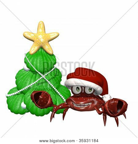 Merry Christmas Crab