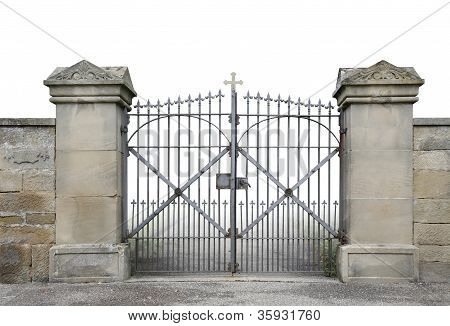 Wrought-iron Gate And Wall