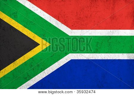 Grunge Dirty And Weathered South African Flag