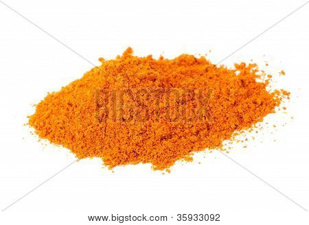 Red Pepper Spice Isolated On White Background.