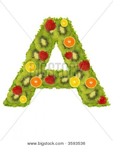 Alphabet From Fruit - A