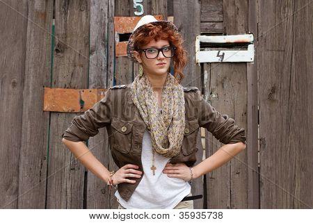 Displeased Hipster Girl