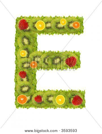 Alphabet From Fruit - E