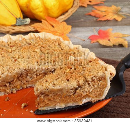 Serving Pumpkin Pie