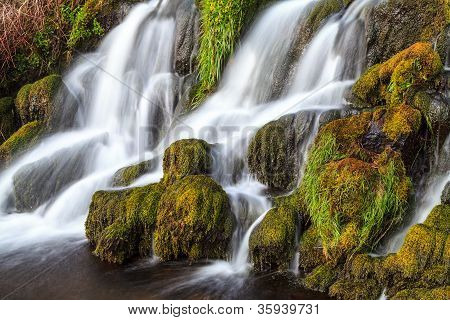 Waterfall In The Mountains Of Scotland