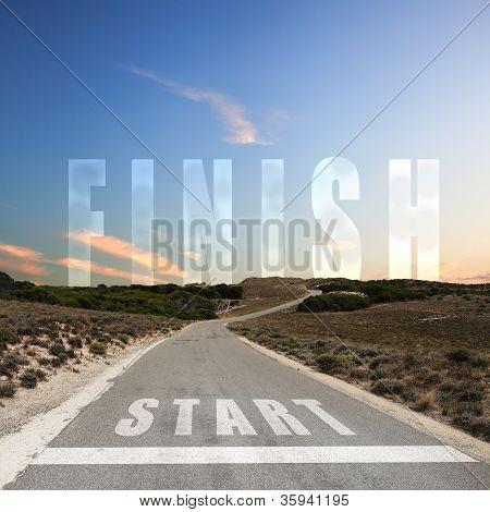 Straße zum Beenden