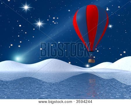 Fantasy Winter Hot-Air Balloon