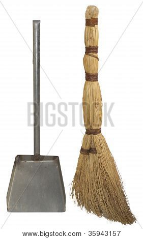 Broom and dustpan