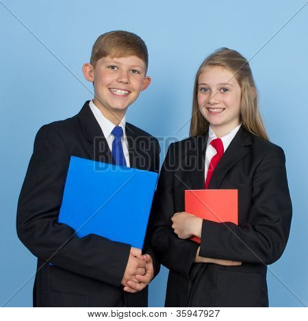 Two School Children