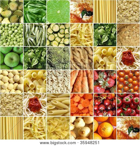 Colagem de alimentos