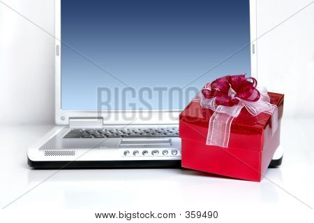 Notebook With Red Gift Box