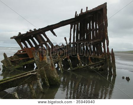 Beached Shipwreck in Oregon 2