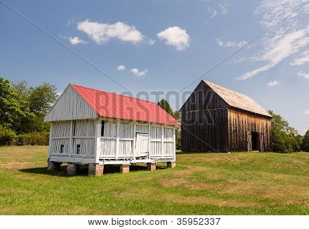 Barns At Thomas Stone House In Maryland