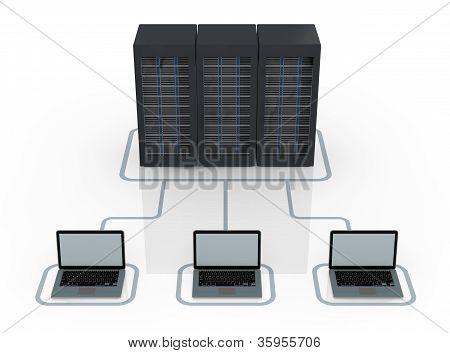Konzept der Computer-Netzwerk