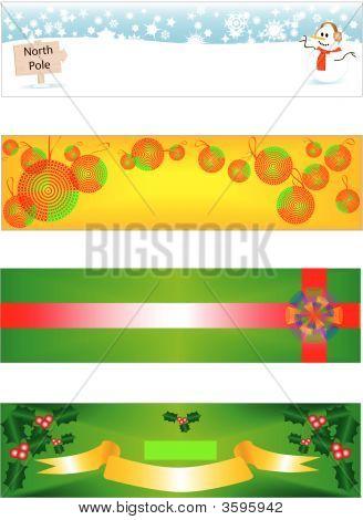 Christmas Banner Vectors
