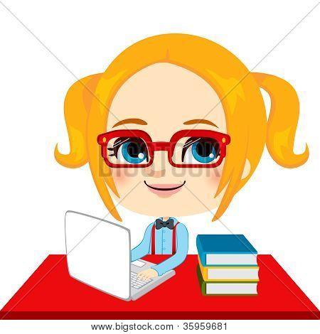 To Geek Mädchen student