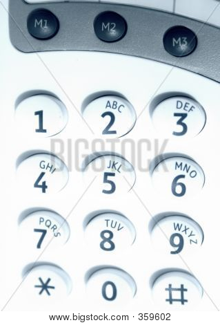 Close Up Of Keypad - Cyan