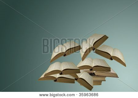 Floating Open Books
