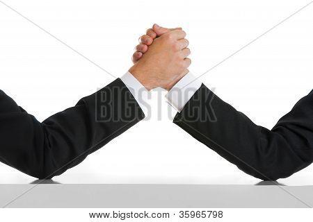 Business rival comptetition concept