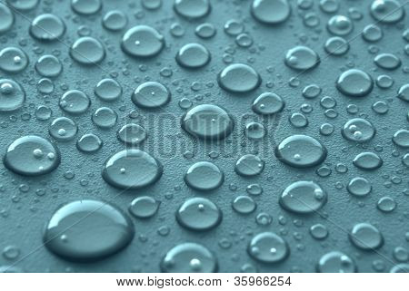 Blue Water Drops