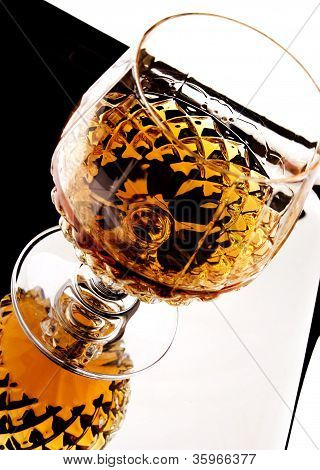 Whiskey In Stem Glass