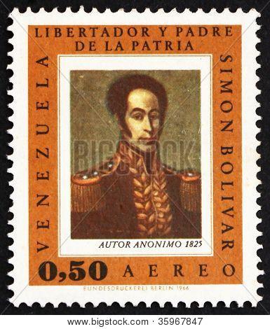 Briefmarke Venezuela 1966 Simon Bolivar, Porträt