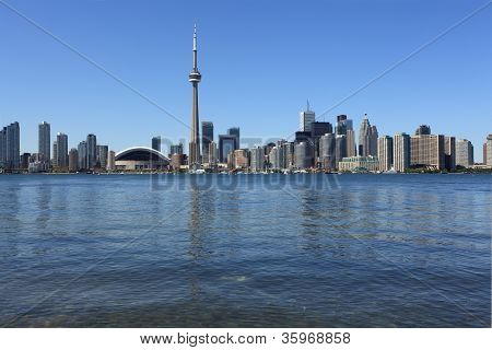 Toronto Cityscape Under Clear Sky