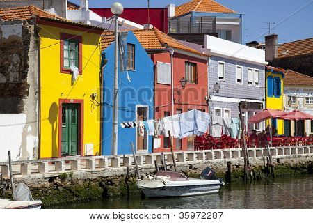Traditional coloured houses, Aveiro