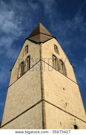 Medieval church tower