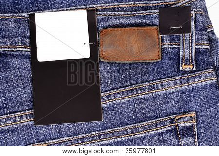 Blue Jean With Lable And Tag