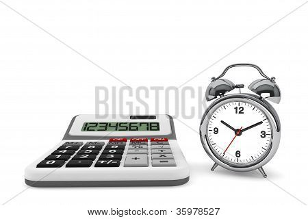 Calculator And Alarm Clock
