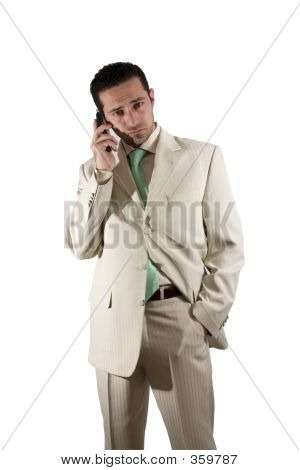 Businessman On The Pda Phone