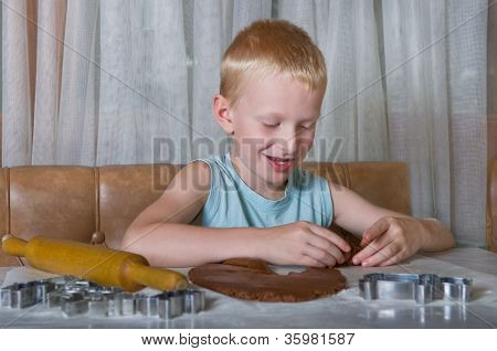 Boy Baking Cookies