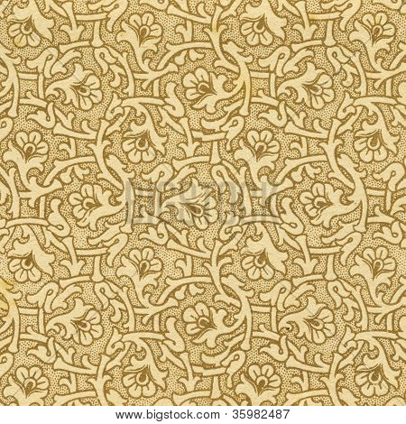 Antique Paper Background With Floral Pattern. Xix C.