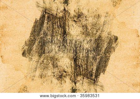 Handprint On Grunge Paper