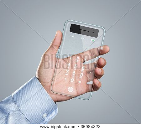Futuristic Transparent Smart Phone